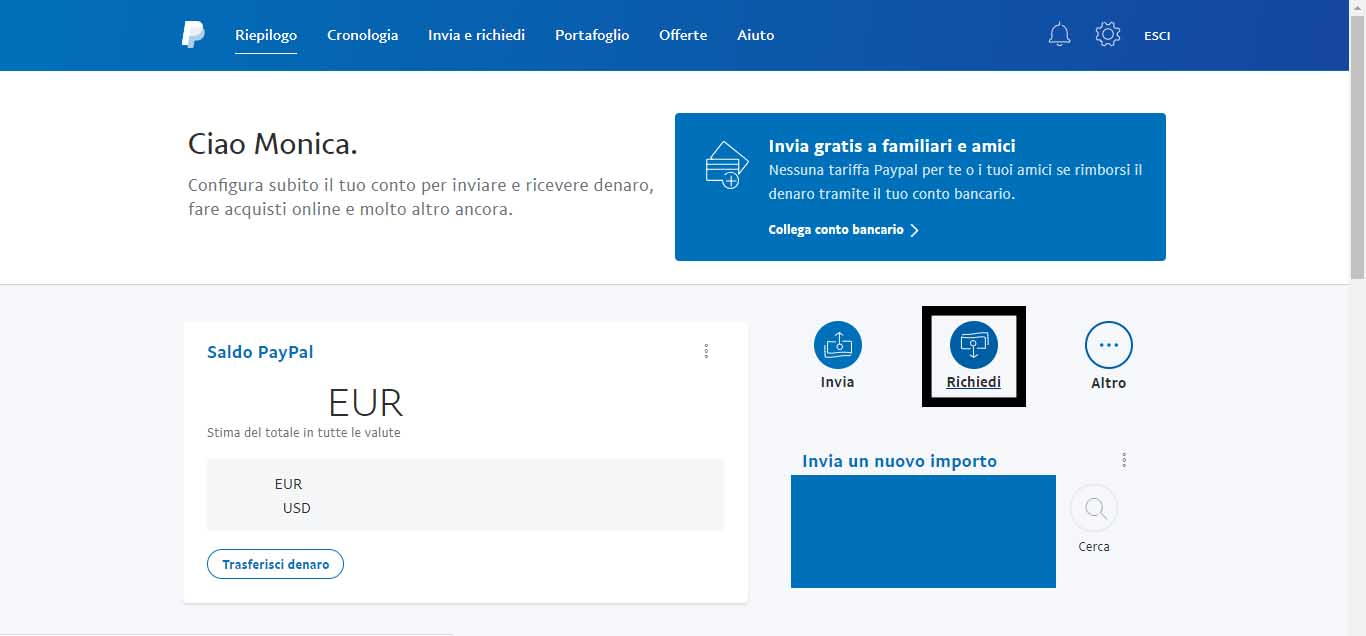 creare link paypal me
