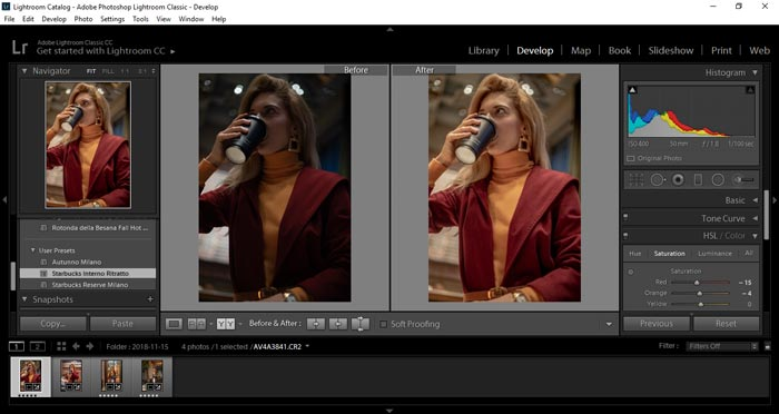 Importare preset lightroom fine procedura