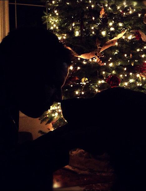 Silhouette albero di Natale