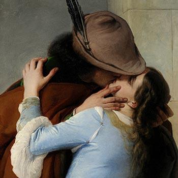 Dettaglio bacio di Hayez