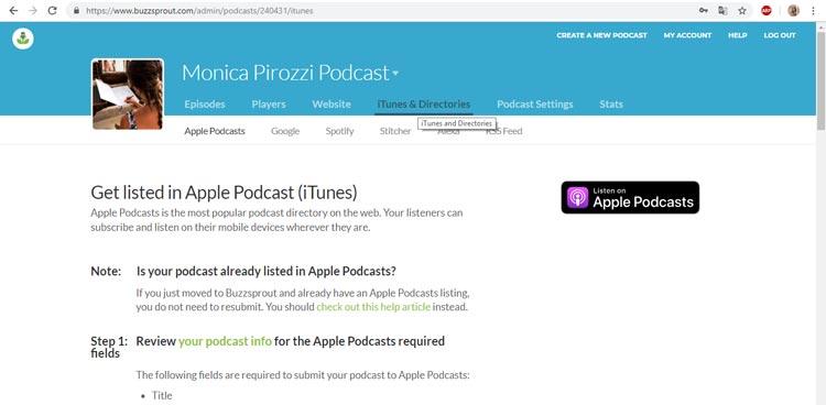 creare un podcast su itunes