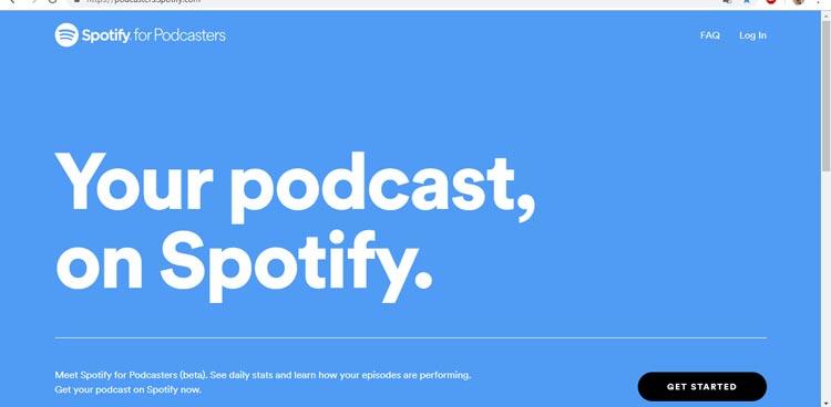 creare un podcast su spotify
