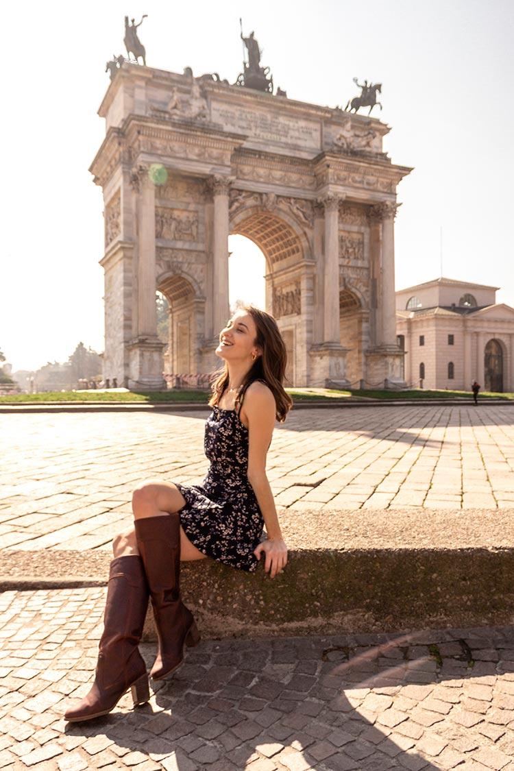 fashion blogger arco della pace milano