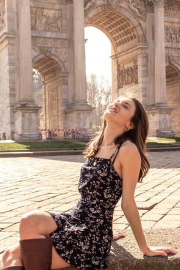 Shooting moda all'arco della pace Milano