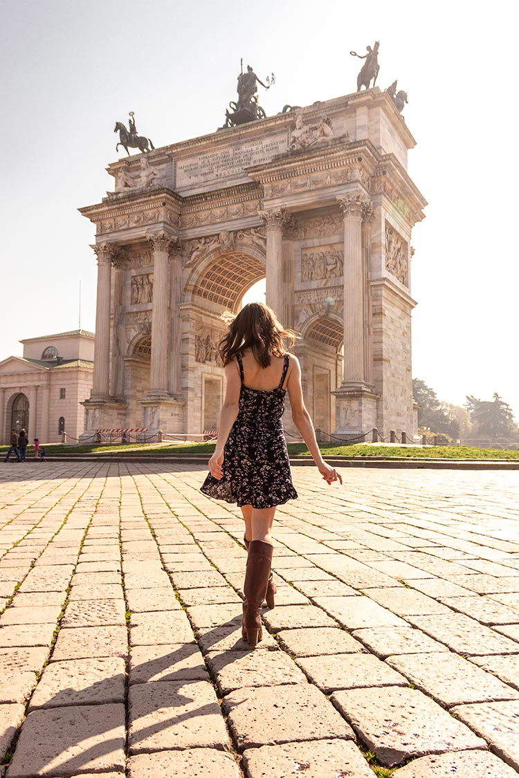 shooting moda arco della pace Milano