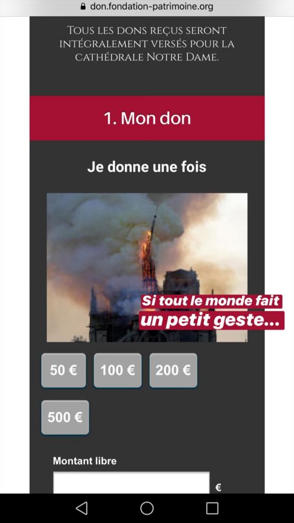 Raccolta fondi per Notre Dame