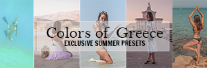 exclusive lightroom preset pack - colors of Greece