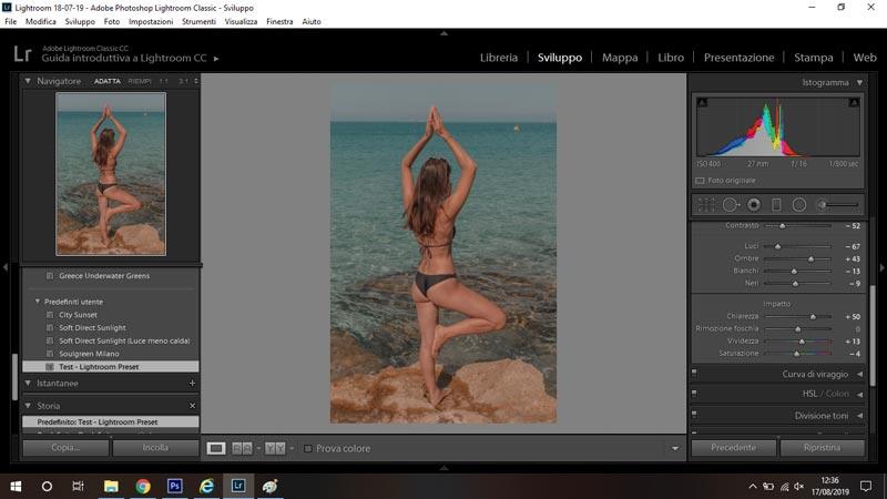 preset mobile su desktop