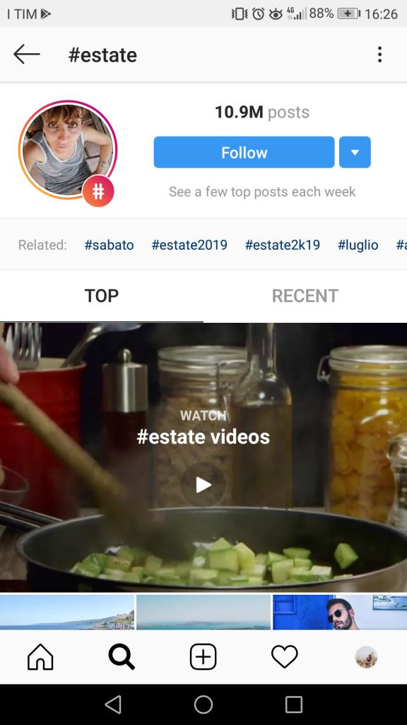 Pagina TOP Hashtag Instagram