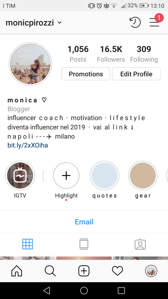 bio Instagram Monica Pirozzi