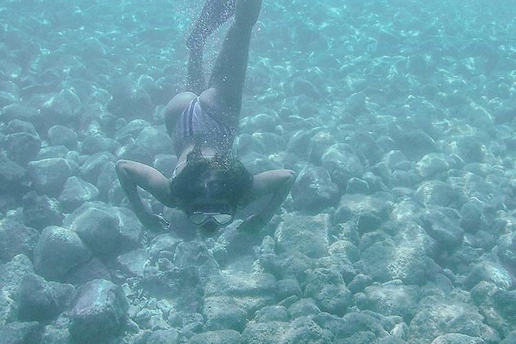 antisamo beach sott'acqua cefalonia