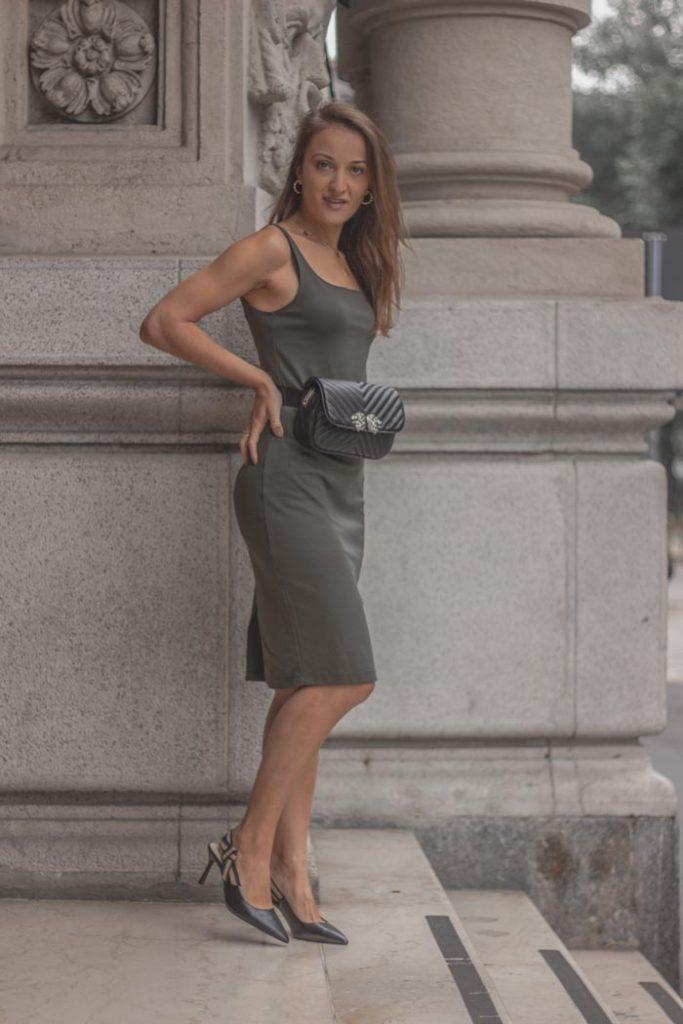 Monica Pirozzi Vestito Verde Zara Milano
