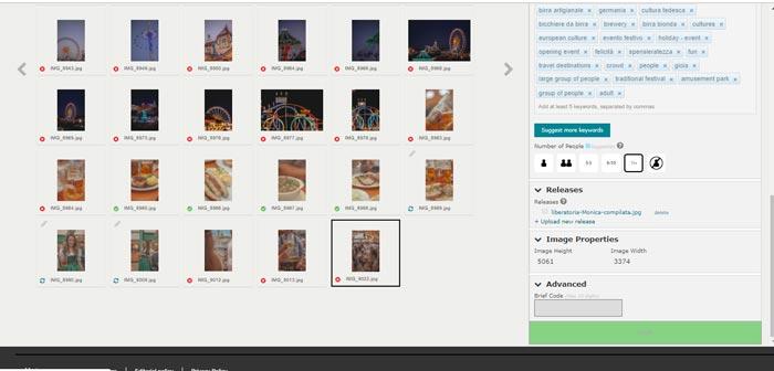 caricare liberatoria modello Getty Images e iStock