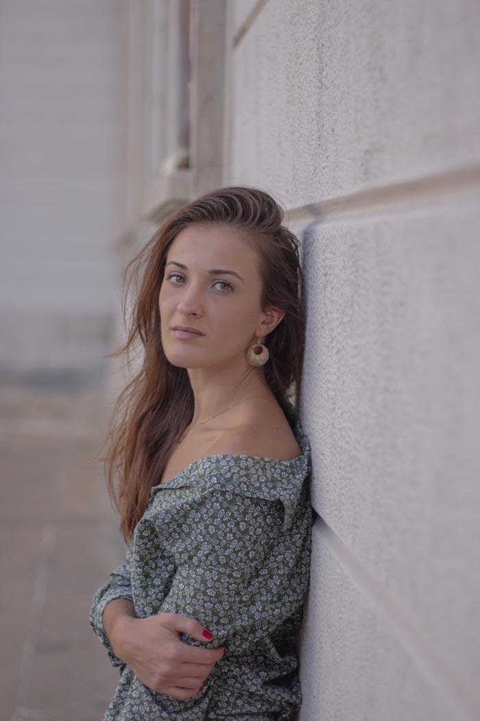 Monica Pirozzi in Duomo - Camicia Verde