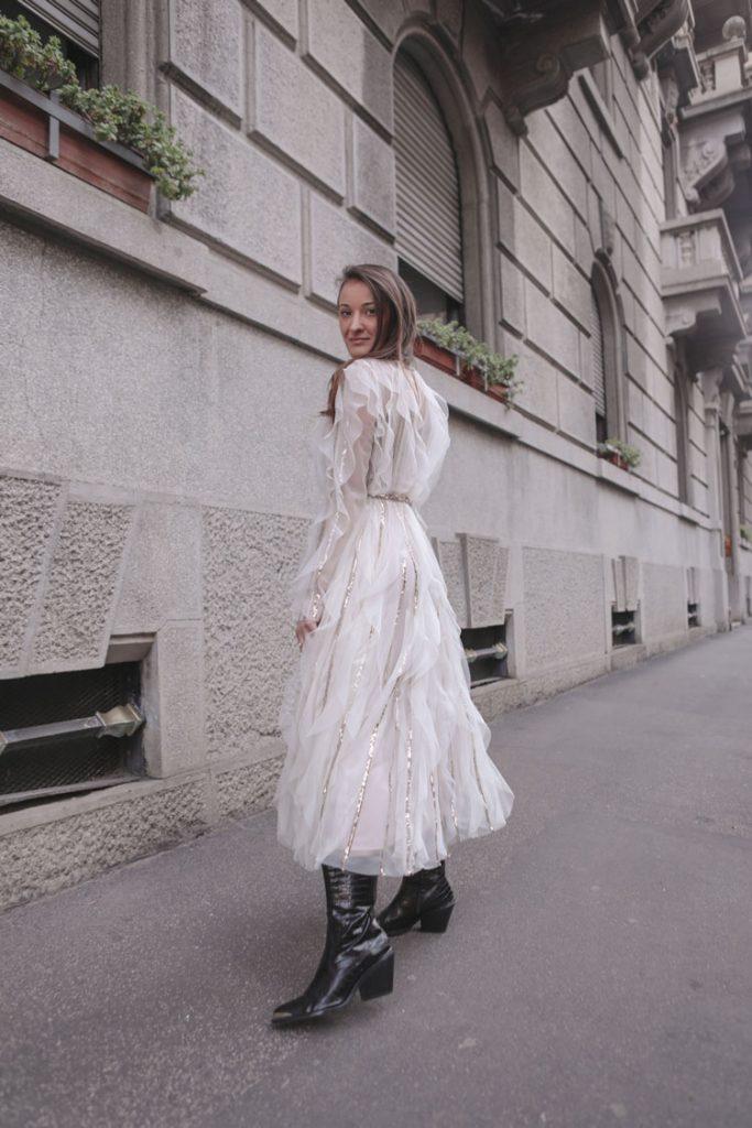 Monica Pirozzi alla Milano Fashion Week
