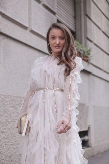 Monica Pirozzi alla Milano Fashion Week - Febbraio 2020