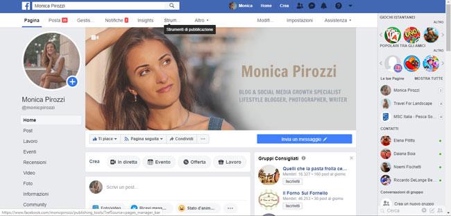 Pagina Facebook Monica Pirozzi