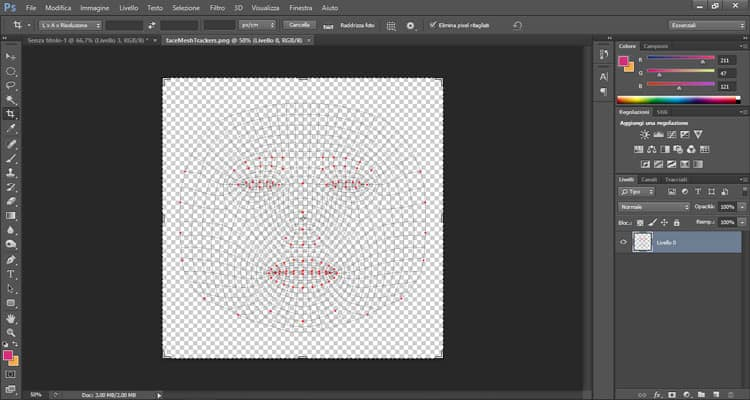 Face Trackers Photoshop Spark AR Studio