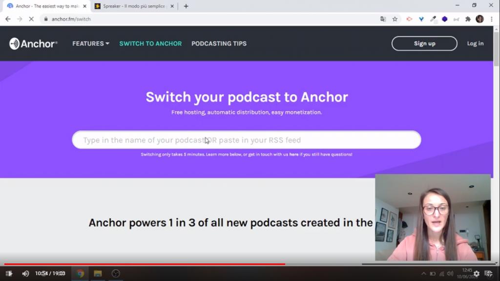Trasferire un podcast su Anchor